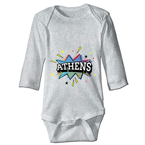 shunshunfeng Athens-Comic Onesies Long Sleeve Home Outfit for Baby Boys -