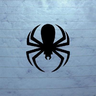 DIE CUT BIKE ART HOME DECOR DECAL DECOR NOTEBOOK LAPTOP WALL ART CAR BLACK SPIDERMAN SPIDER HELMET ADHESIVE VINYL WINDOW Vinyl Spider