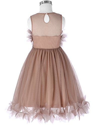 Girls Lace Tulle Wedding Flower Girl Dresses Party Formal Occasion 10-11yrs CL010456-1
