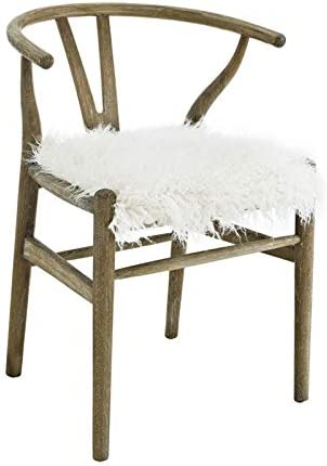 Linon Layla Wishbone Wood Chair in Brown