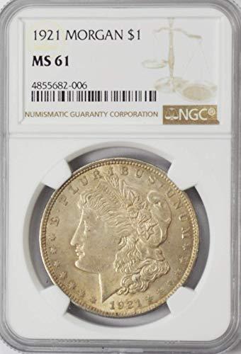 1921 P Morgan Silver Dollar Brilliant Uncirculated AZAF8 $1 MS61 NGC ()