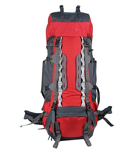 Xin.S70L De Gran Capacidad Al Aire Libre Paquete De Escalada Impermeable Viajes Deportes Senderismo Viajes Mochila Multi-funcional. 3 Colores Red
