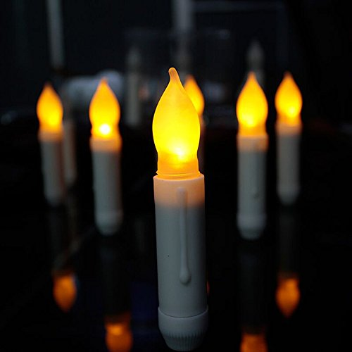 Flameless LED Window Taper Candles Battery Operated Dripping