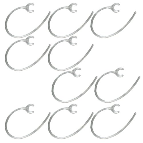 10 Pack of Samsung OEM Clear Replacement Ear Hook earhook for Samsung WEP870 WEP480 WEP490 Bluetooth Headset