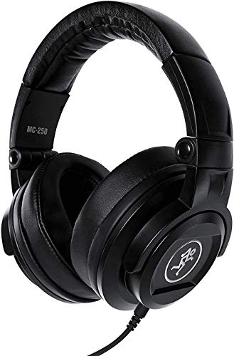 Mackie MC-150 Closed-Back, Over-Ear Studio Headphones Includes Free Wireless Earbuds - Stereo Bluetooth in-Ear and 1 Year Everything Music Extended Warranty