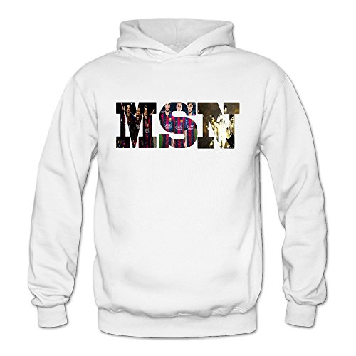 Tavil MSN Womens Long Sleeve Hoodies Size Small White -