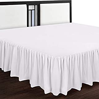 Utopia Bedding Bed Ruffle - Dust Ruffle - Easy Fit with 16 Inch Tailored Drop - Hotel Quality, Shrinkage and Fade Resistant (Full, White)