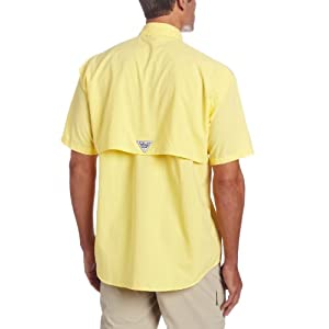 Columbia Men's Bahama II Short Sleeve Shirt, Sunlit, X-Small