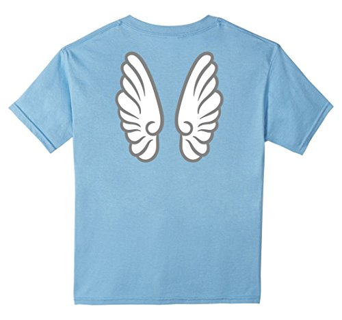 Kids Angel Wings Nativity Scene Costume T-Shirt 12 Baby Blue