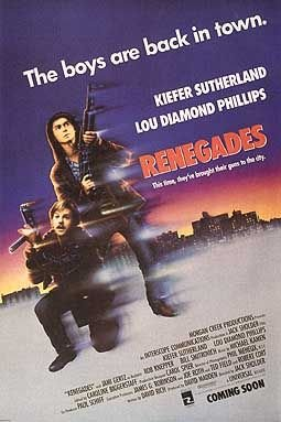 RENEGADES (1989) Original Authentic Movie Poster 27x40 - ROLLED - Double - Sided - Kiefer Sutherland - Lou Dimond Phillips - Jami Gertz - Robert Knepper