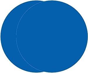 Multi-Purpose Silicone Original Microwave Mat   BPA Free, Food Grade Safe, Heat Resistant to 475°F, Dishwasher Safe - Splatter Guard, Hot Pad, Pot Holder, Minimize Mess,12 Inch, 2PCS (Blue)
