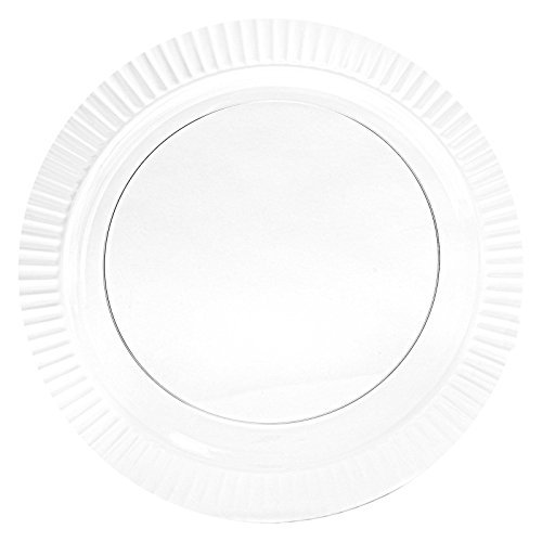 Amscan Ready Reusable Round Dinner Clear Plastic 10'' Pack 16 Party Supplies , 96 Pieces