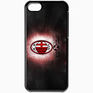 Personalized iPhone 5C Cell phone Case/Cover Skin Ac milan Black by icecream design