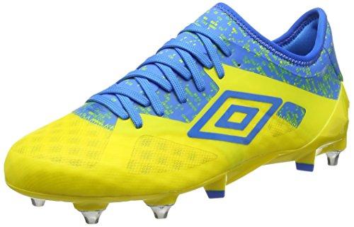 Umbro Velocita III Pro SG, Scarpe da Calcio Uomo Giallo (Blazing Yellow / Electric Blue)