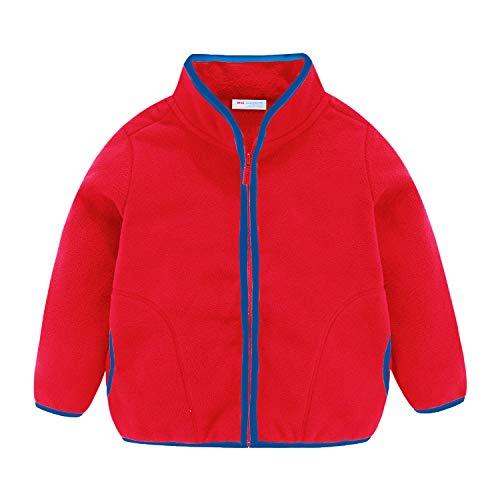 Mud Kingdom Girls Jacket Fleece Lightweight Soft Size 10 Slim Red