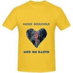 Musiq Soulchild Life On Earth Funk Mens Crew Neck Big Tall Shirt Yellow