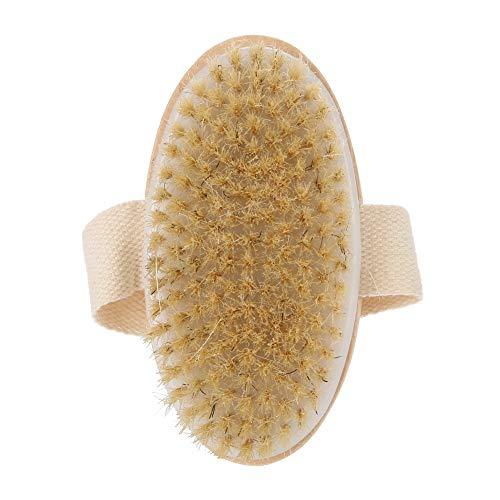 Cepillo de barba Cepillo de pelo Mango de madera Barba Limpieza Afeitado Cepillo de modelado para hombres