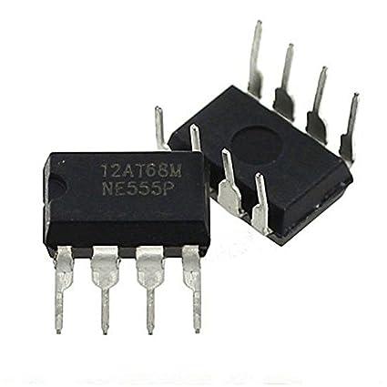 Merssavo 20 Pcs Dip-8 NE555N NE555 Temporizador de Alta Precisión del Oscilador Nuevo IC