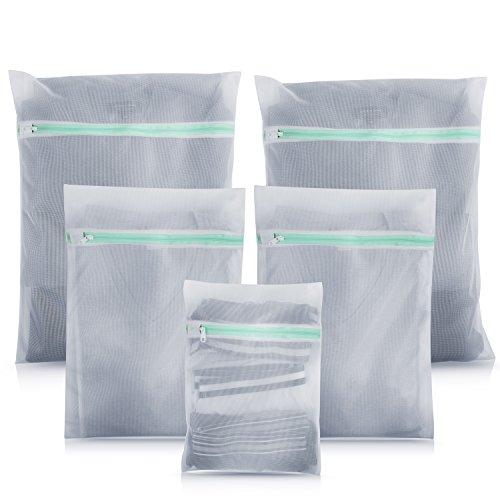 Premium Wäschenetz (5er-Set) für Waschmaschine - ideal für empfindliche Dessous, BH und Schuhe - Überzeugende Qualität - Hochwertige Wäschesäcke - Wäschenetze Set mit 2 Jahren Garantie