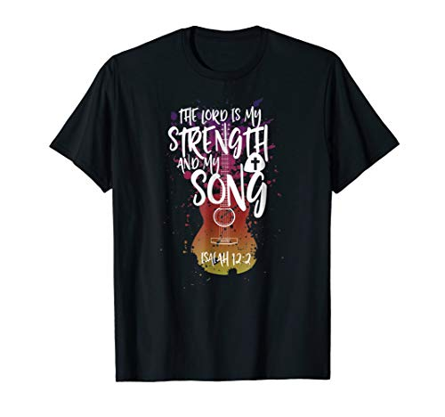 Mens Christian Music Guitar T Shirt Church Band Love God 2XL Black -