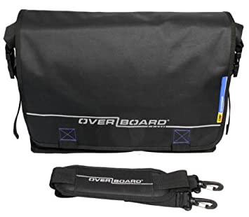 Amazon.com: OverBoard Waterproof Roll-Top Messenger Bag, Black ...