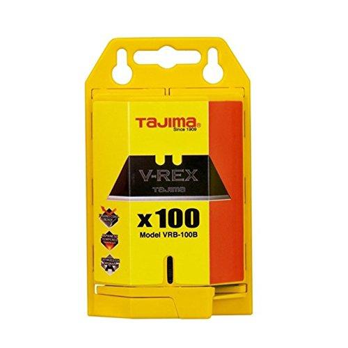 Tajima VRB2-100B V-REX II Premium Tempered Steel Utility Knife Blades, 100-Pack (Best Utility Knife Blades)