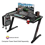 EUREKA ERGONOMIC Z2 Gaming Desk 50.6'' Z Shaped Office PC Computer Gaming Table with Retractable Cup...