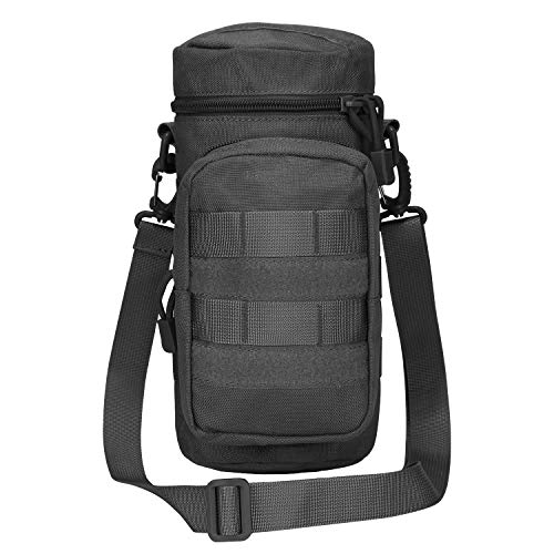 G4Free Tactical MOLLE Water Bottle Pouch H2O Hydration Carrier Holder (Black)