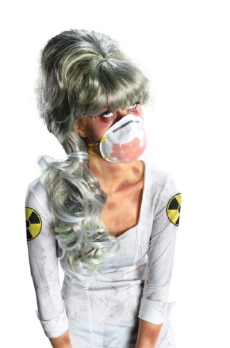 Themed Costumes Science Halloween (Rubie's Costume Nuclear Nurse Long Wig, Multicolor, One)