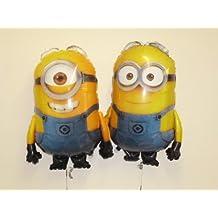 """Set Of 2 - 30"""" Despicable Me Minion Foil Balloons Dave And Stuart (CS126+CS141)"""