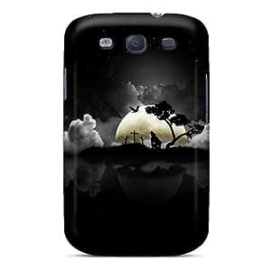 Galaxy High Quality Tpu Case/ Spooky Night WqayoiH1511jPuiZ Case Cover For Galaxy S3