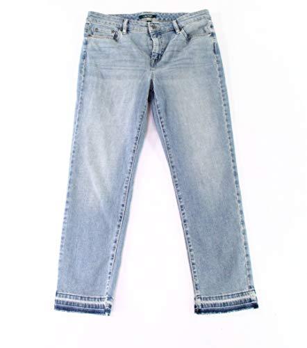 Lauren Ralph Lauren Women's Premier Straight Crop Jeans Crystal Blue Wash 12 ()