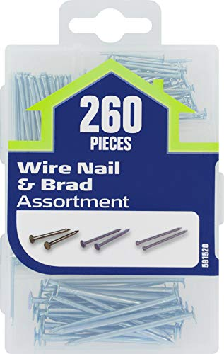 Miscellaneous Hardware Kit - The Hillman Group 591520 Small Wire Nail and Brad Assortment, 260-Pack