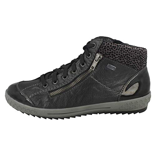 Women's Casual Rieker gr Shoes Lace Up 1 Schwarz schwarz M6143 rTTq5I