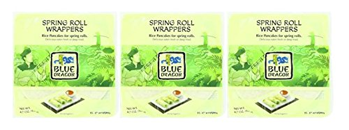 Blue Dragon Spring Roll Rice Wrapper, 4.7 oz (Pack of 3)