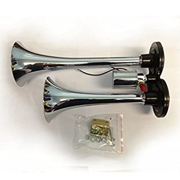 24V Chrome Air Horn 135db to fit Volvo Renault Scania Iveco MAN DAF Truck Lorry
