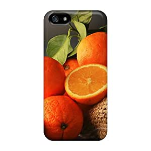 Excellent Iphone 5/5s Case Tpu Cover Back Skin Protector Citrus Oranges