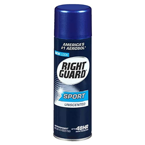 Right Guard Sport Unscented Aerosol Antiperspirant Spray 6 oz (Pack of 2)