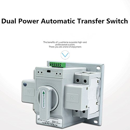 guangshun New Home Dual Power Automatic Transfer Switch 2P 63A 220V Toggle Switch Double Power Automatic Change-Over Switch by guangshun (Image #8)