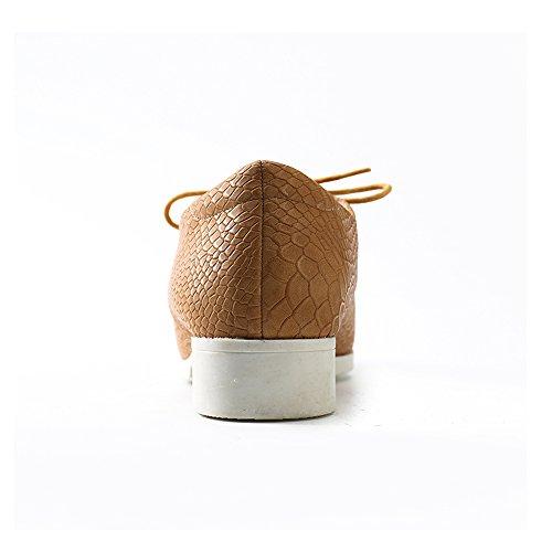 Alexis mujer Albaricoque de cordones Zapatos Derby para Leroy OqrO1