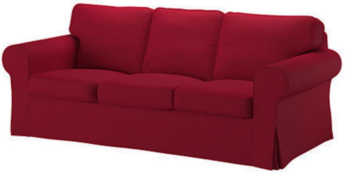 Good Life IKEA Ektorp 3 Seat Sofa Cover Replacement is Custom Made Slipcover for IKEA Ektorp Sofa Cover (Wine Red)
