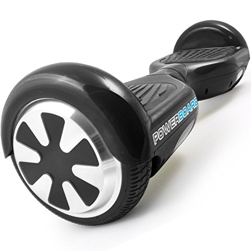 Powerboard by HOVERBOARD - (SAFE UL 2272 CERTIFIED) Black - 2 Wheel Self Balancing Scooter with LED...