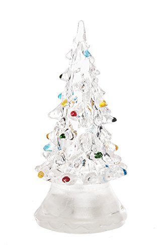 (LED Color Changing Lighted Christmas Tree (Small) by Ganz,Clear)