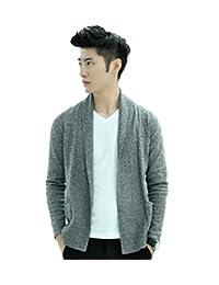 Men's Chic Stylish Fine Knit Casual Knitted Cardigan Sweater Shawl Collar