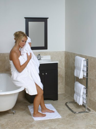 Warmrails whc hyde park family size floor standing towel - How do heated bathroom floors work ...