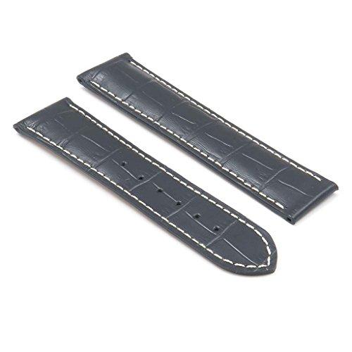- DASSARI Aston Crocodile Leather Embossed Watch Strap