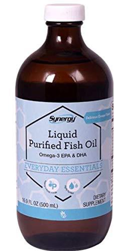 - Vitacost Synergy Liquid Purified Fish Oil Omega-3 EPA and DHA Orange 16.9 fl Oz