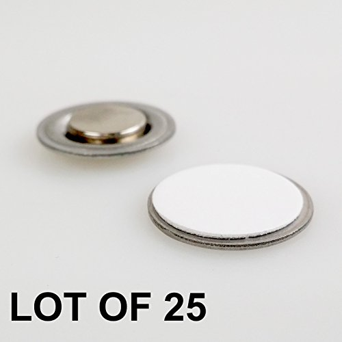 - Round Magnet with Adhesive for Buttons Name Tags Lapel Pins LOT OF 25 #RM01-25#