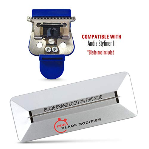 1Min Blade Modifier and 10 Sec Blade Setter Combo Set | On The Money Zero Gap Tool Compatible with Andis STYLINER II Blades | The Key to The Sharpest Lines and Closest Shaves | by The Rich Barber (10 Blades Sec)