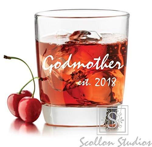 Godmother Rocks - Personalized Godmother Gift, Rocks Glass, Whiskey Glass Elegant Will You Be My Godmother Gift, Baptism Gift, For The Godmother, Godparents